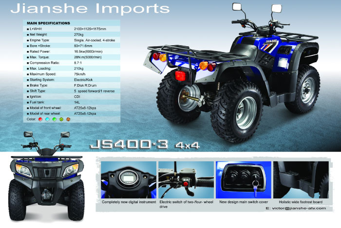 Jianshe js400atv photo - 8